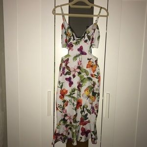Flower midi dress brand new without tag